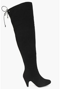 Scarlett Over Knee Low Heel Boots