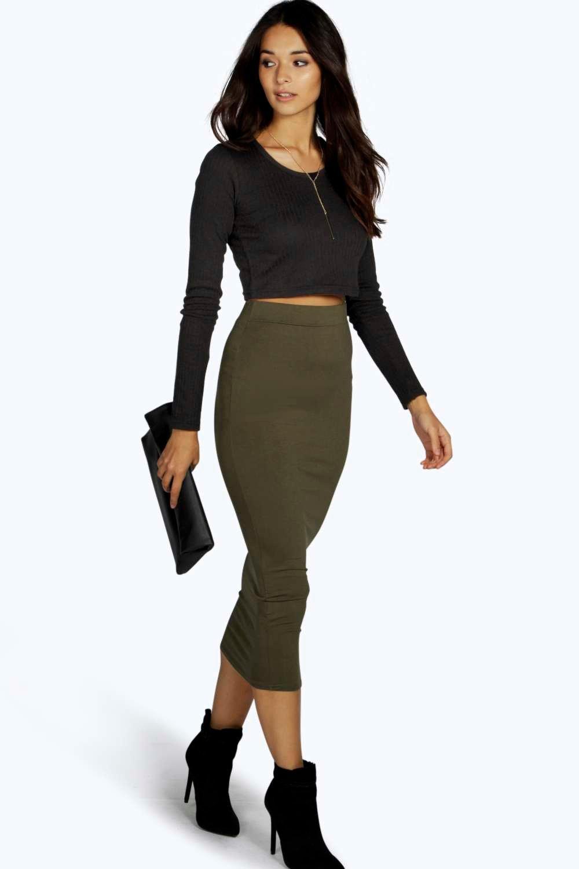 boohoo womens imogen longline jersey skirt ebay