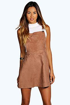 Gabriella Suedette Dungaree Dress