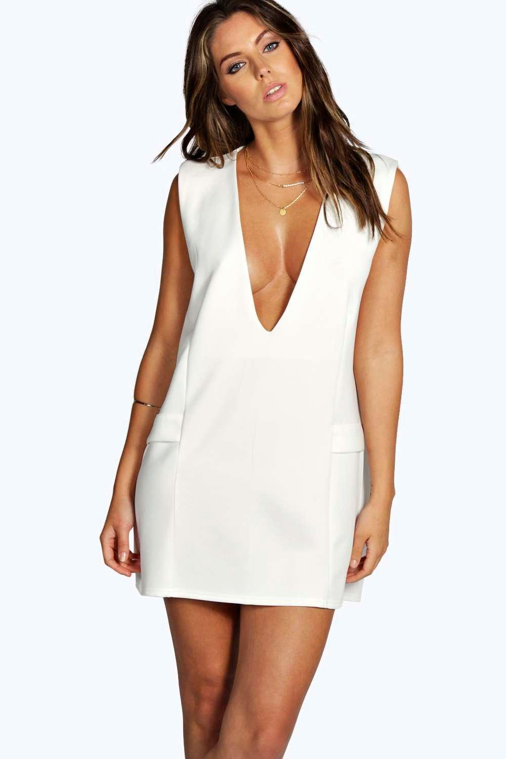 Juliet Deep Plunge Tunic Dress