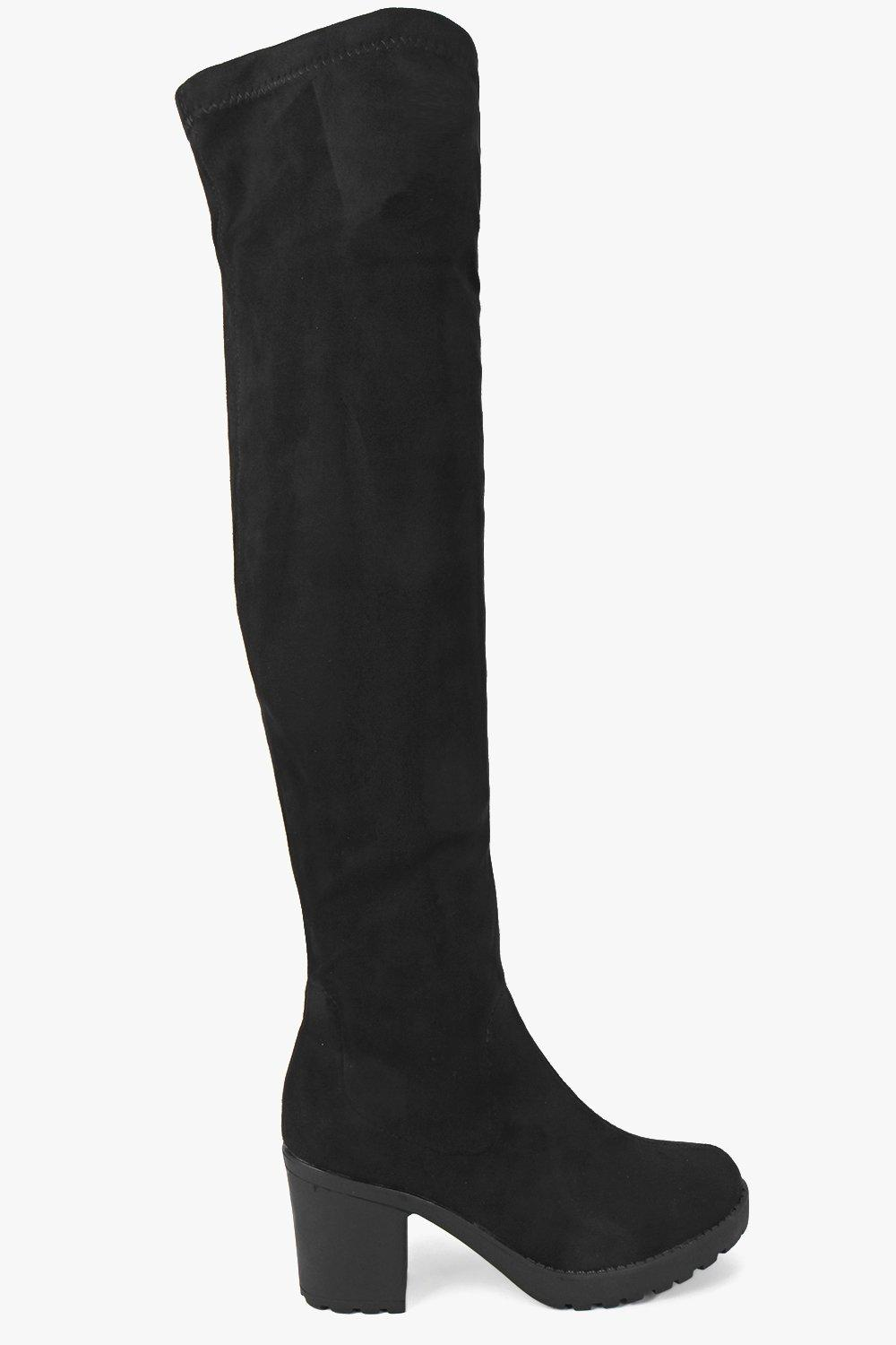 Ella Stretch Over Knee Cleated Boot