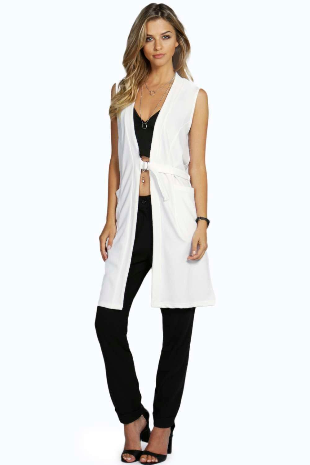Savannah D-Ring Belted Sleeveless Duster