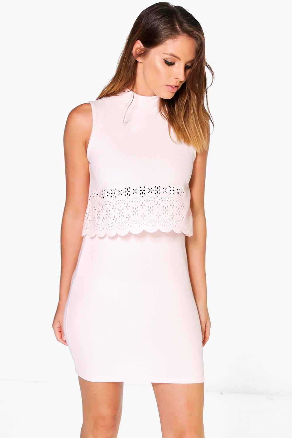 Phoebe Cutout Double Layer Dress