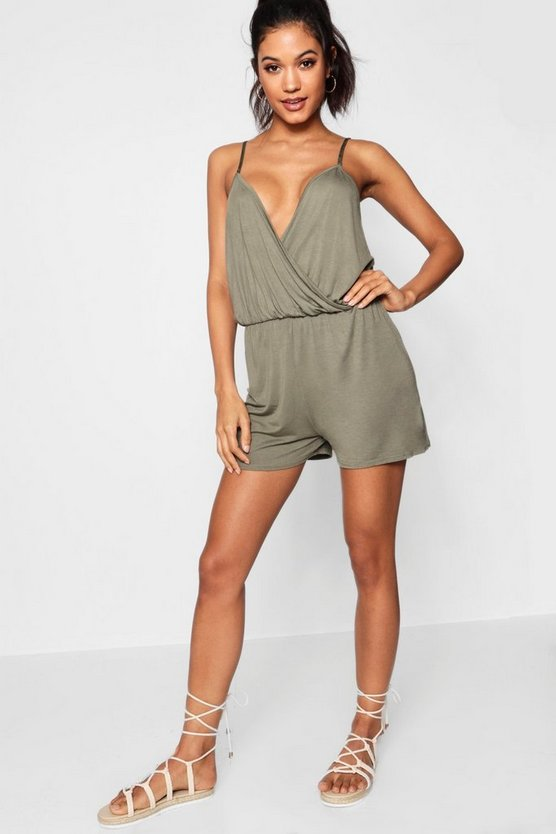 Cami Plunge Strappy Playsuit