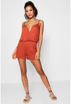 Kally Cami Plunge Strappy Playsuit
