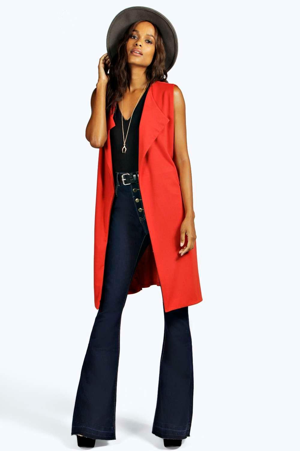 Carol Belted Ponte Sleeveless Trench