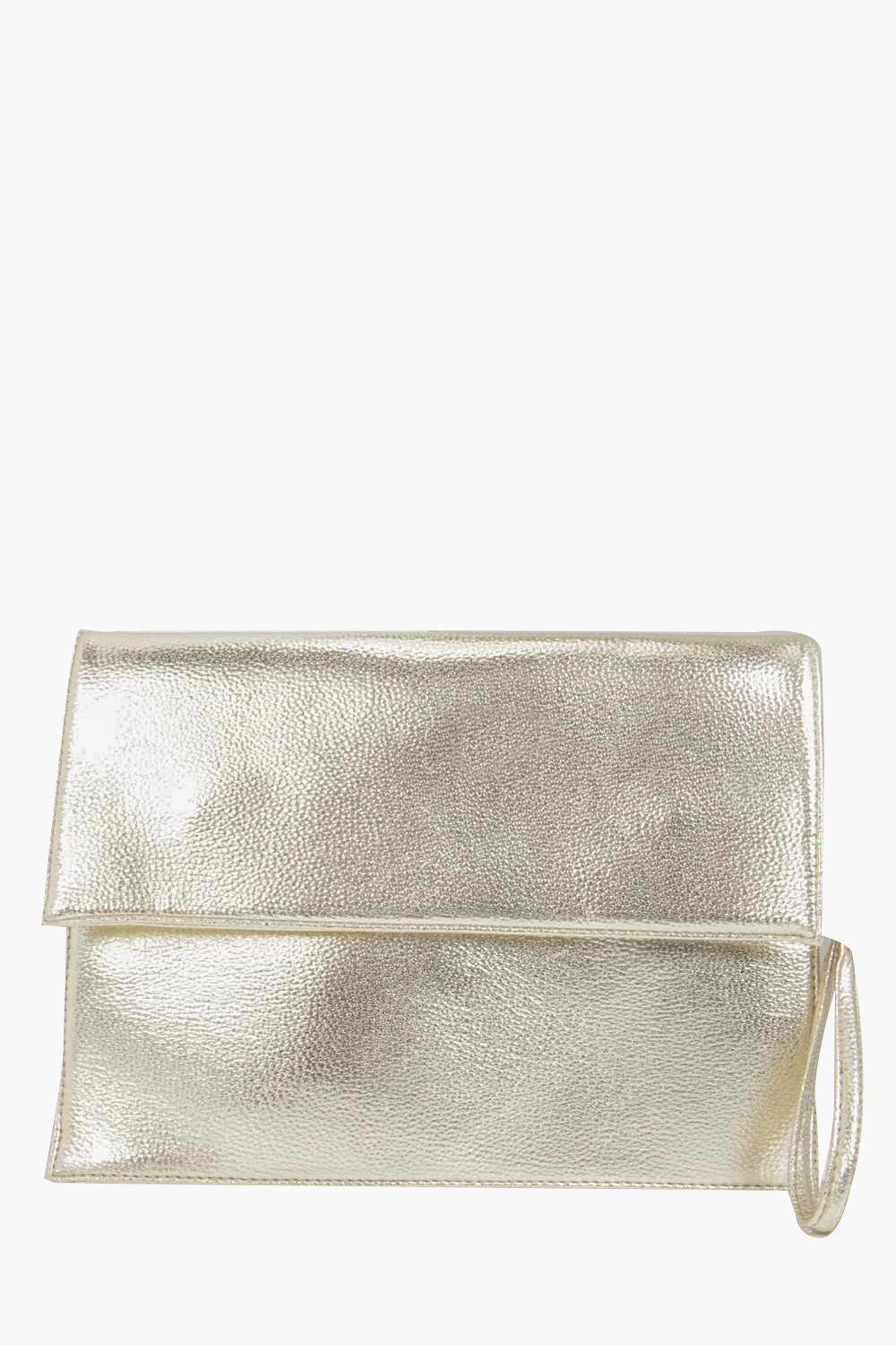 Oversized Clutch Bag gold