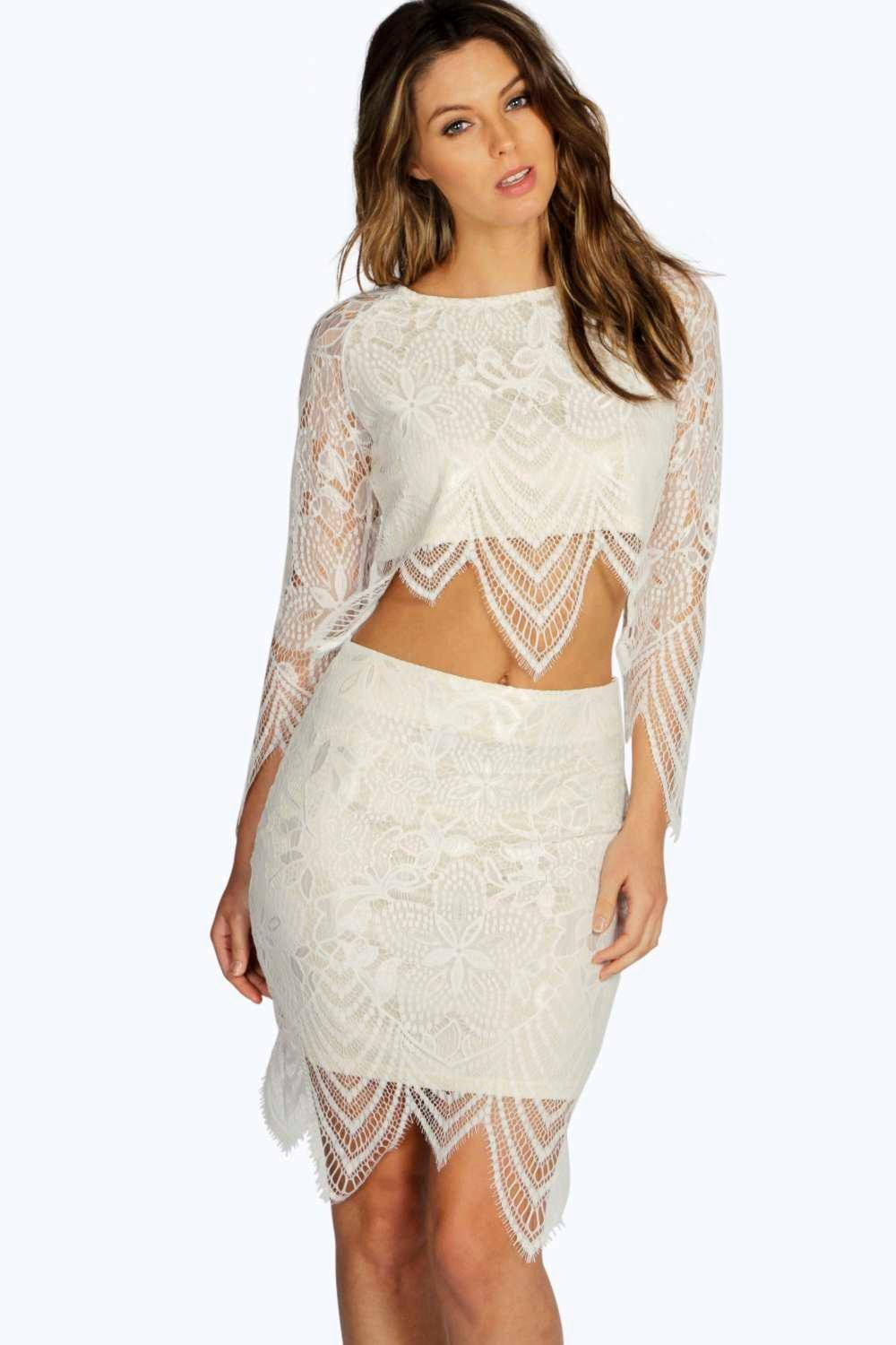 Boutique Bettina Premium Contrast Lace Skirt