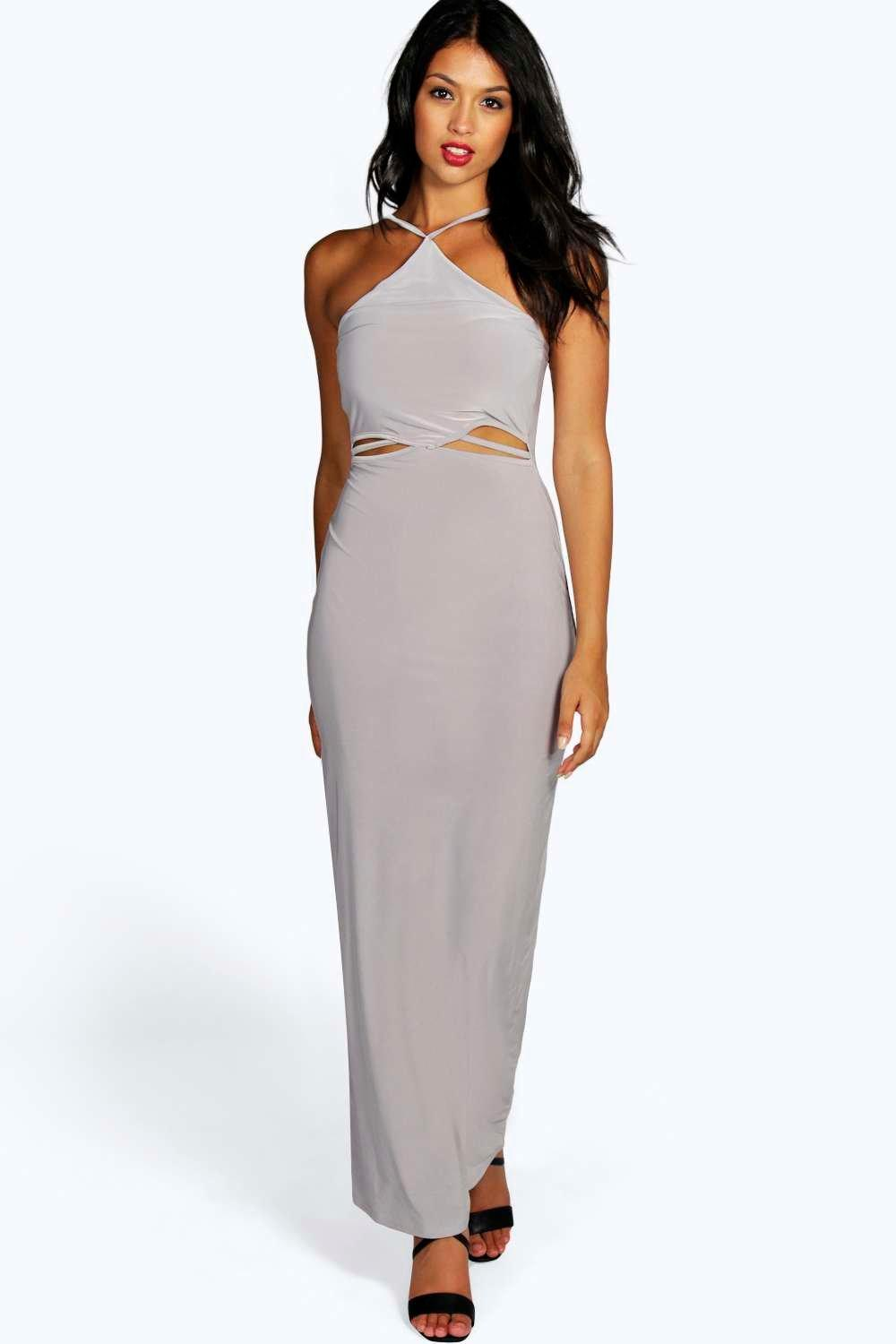 Heidi Slinky Cut Out Maxi Dress