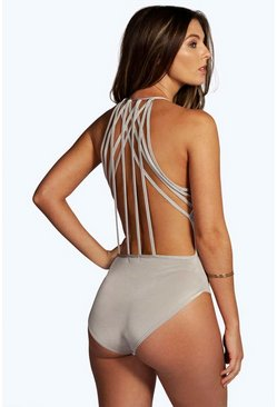 Boutique Molly Slinky Drape Strappy Back Body