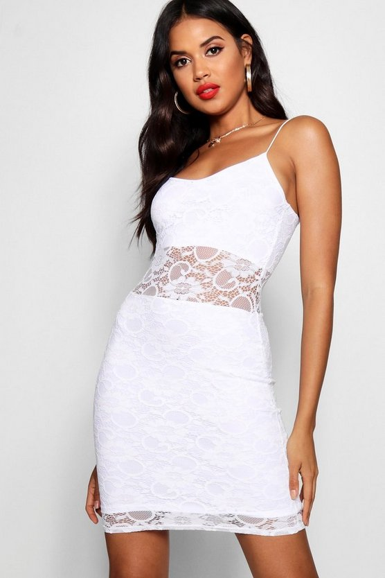 Lace Panelled Bodycon Dress