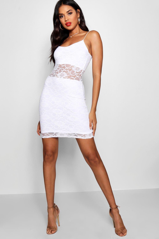 boohoo womens vanessa lace panelled bodycon dress ebay