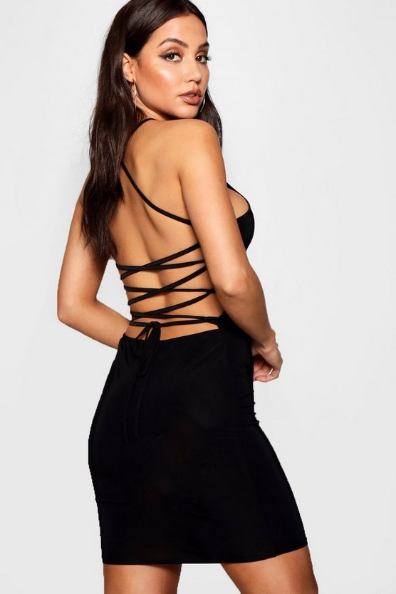 Lydia Slinky Strappy Bodycon Dress