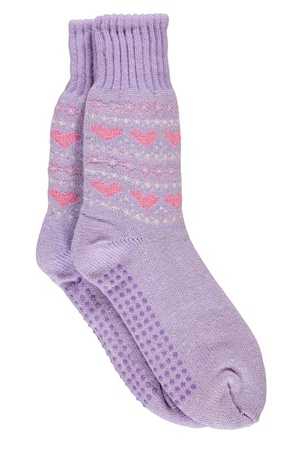 Super Cosy Slipper Socks lilac