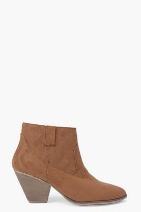 Erin Suedette Pistol Ankle Boots