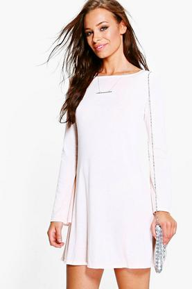 Caitlin Bell Sleeve Knitted Dress