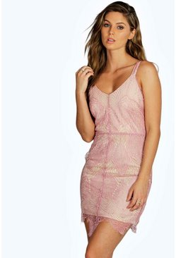Boutique Debb Eyelash Lace Bodycon Dress
