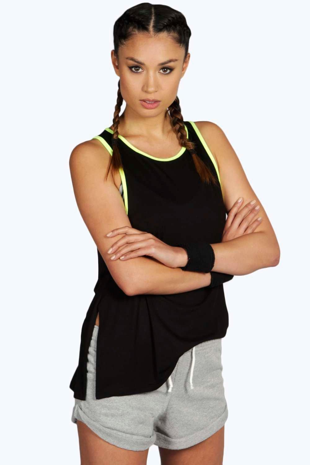 Alicia Fit Neon Contrast Sports Vest