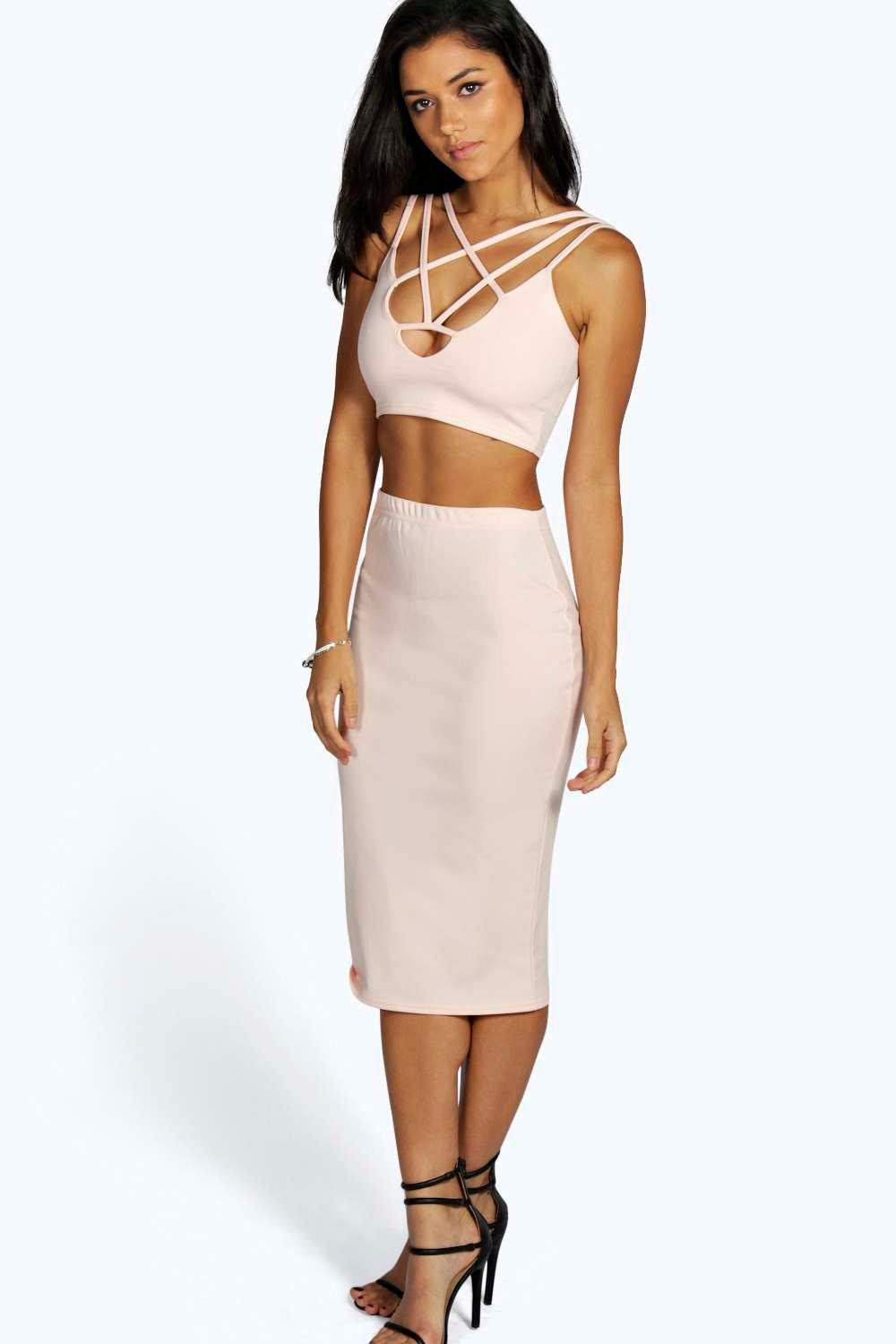 Bella Strappy Plunge Front Midi Co-Ord Set