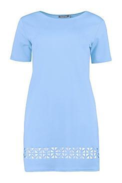 Dalia Laser Cut Shift Dress