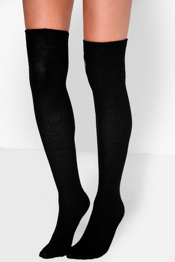 Ella Chunky Knit Knee High Socks