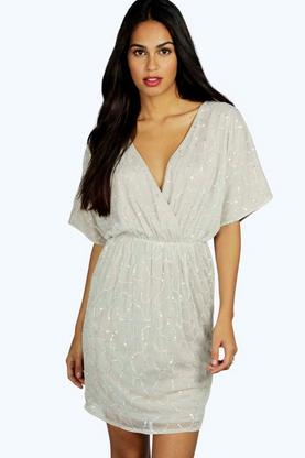 Boutique Raluk Embellished Wrap Dress