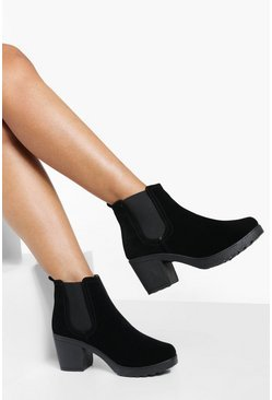 Madison Block Heel Suedette Chelsea Boot