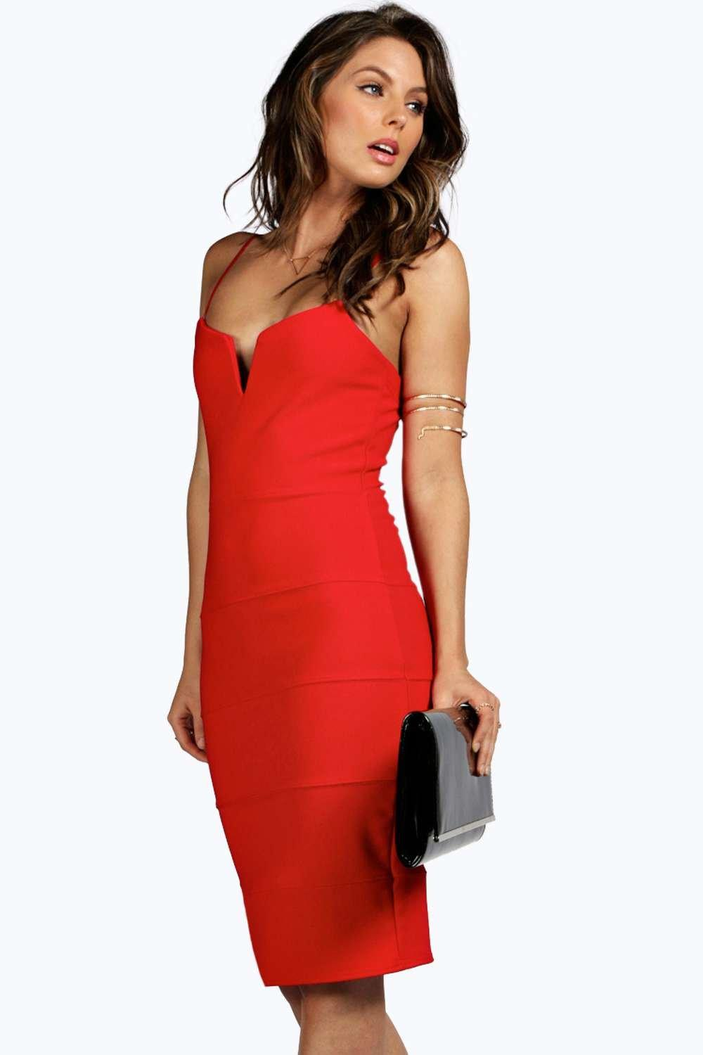 Maria Bandage Plunge Neckline Bodycon Dress
