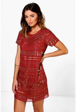 Boutique Viola Embellished Shift Dress