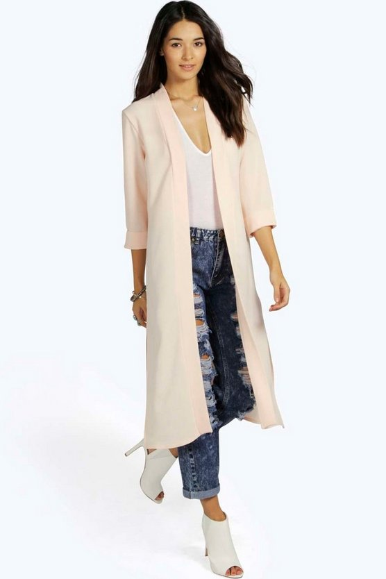 Isabella Turn Up Cuff Duster Coat