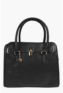 Erin Structured Day Bag With Padlock Detail