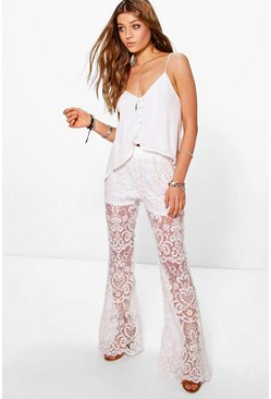 Boutique Tall Laura Lace Flares