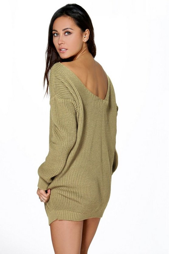 Aubree V Back Jumper Mini Dress