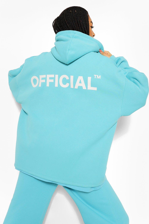 boohoo Oversized Official Hoodie Met Rits