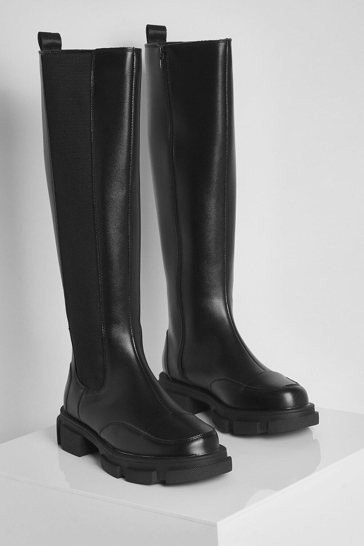 Boohoo Brede Lange Chelsea Boots