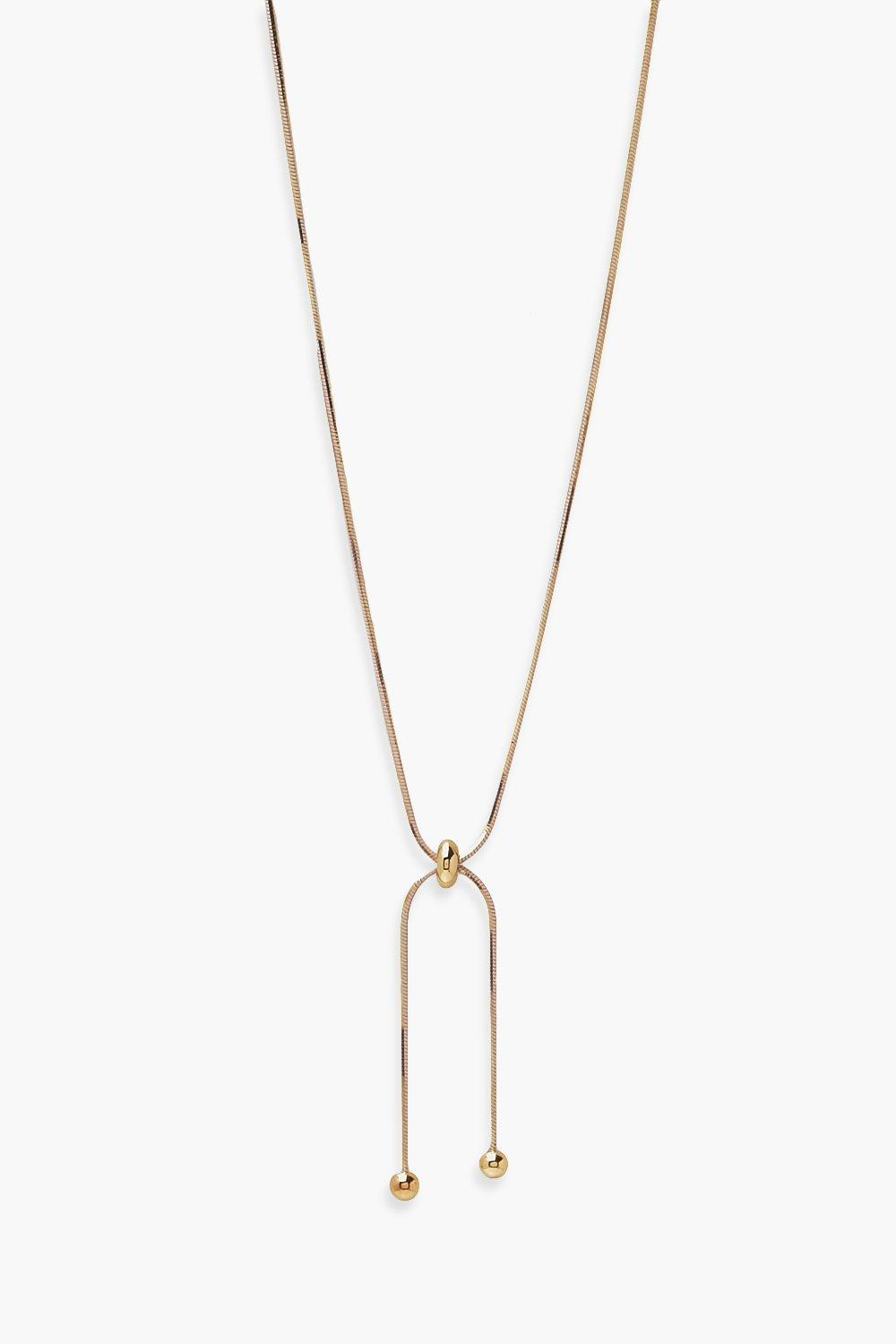 Boohoo Toggle Knot Drop Necklace, Gold