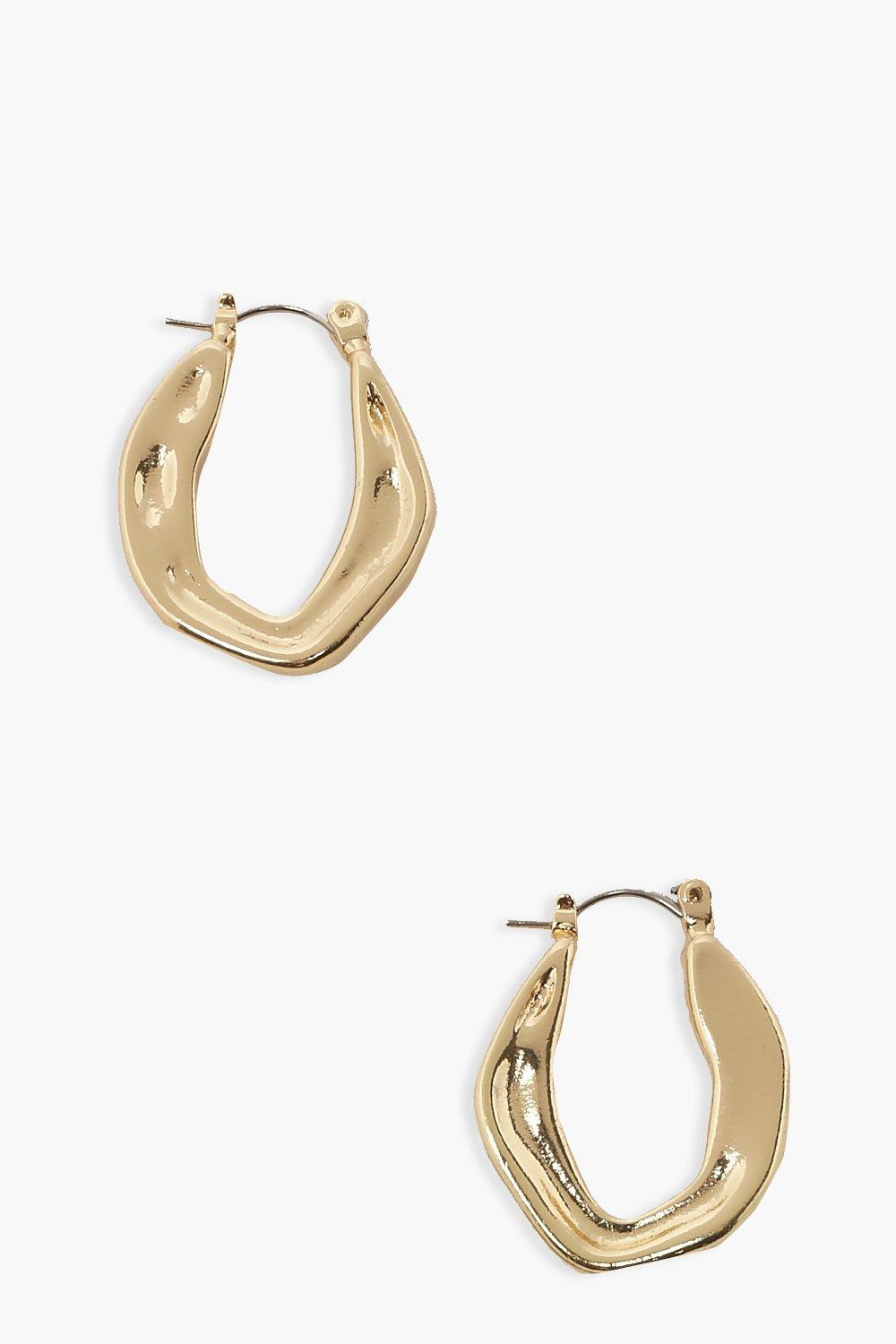 Boohoo Uneven Full Clip Hoops