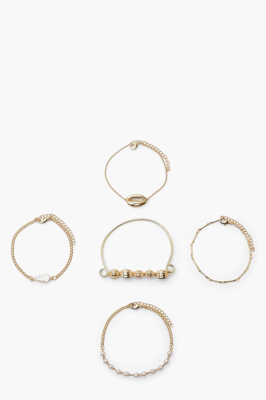 Boohoo Shell Bracelet Pack