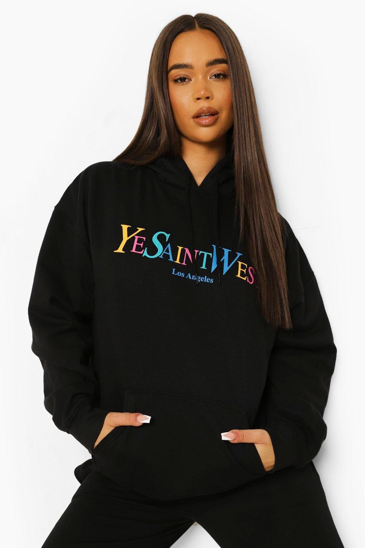 Boohoo Oversized Ye Saint West Hoodie