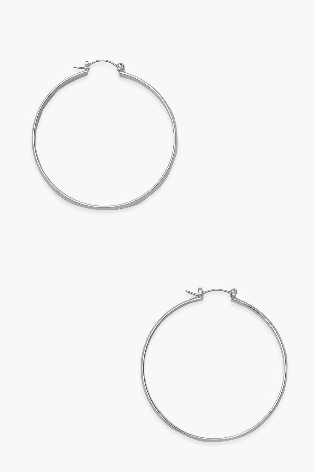 Boohoo Thick Simple Day Hoop Earrings