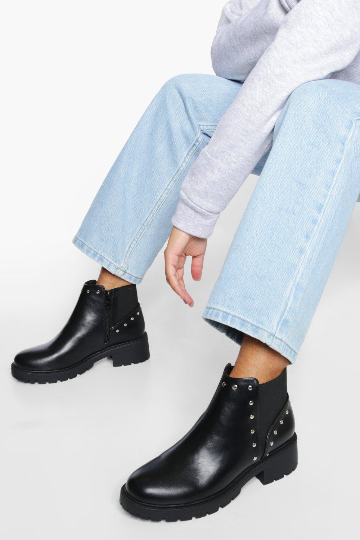 Boohoo Chelsea Boots Met Studs