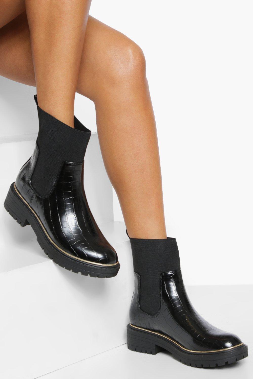 Boohoo Dikke Chelsea Boot Soklaarzen