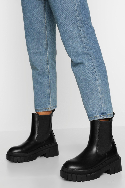 boohoo Chelsea Boots Met Stevige Zool