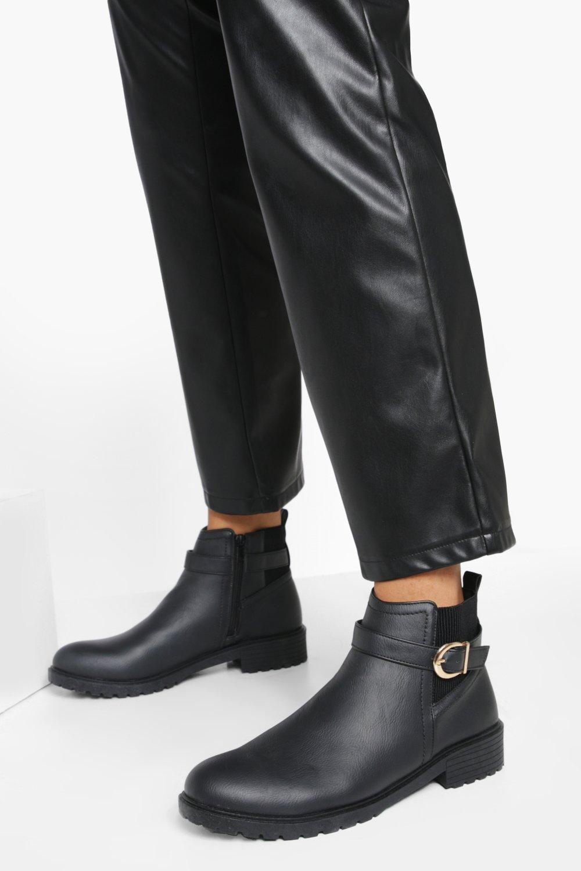 boohoo Chelsea Boots Met Gesp Detail