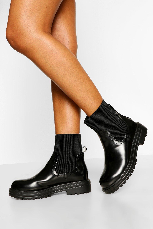 boohoo Chelsea Boots Met Sok Detail