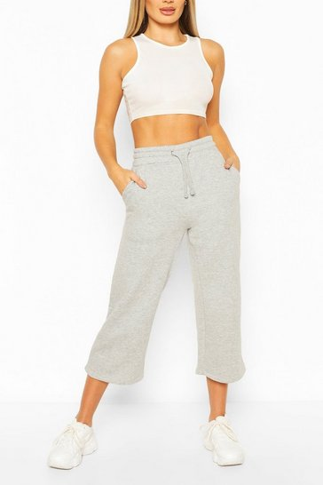 Grey Cropped Jogger