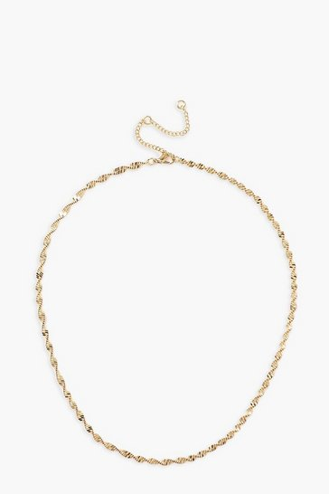 Gold Twisted Chain Necklace
