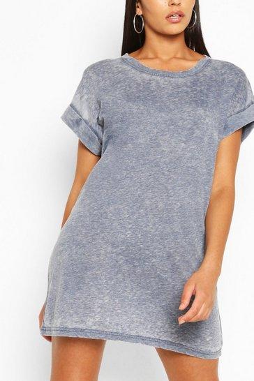 Blue Oversized T-Shirt Dress