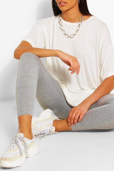 Grey Basic High Waist Legging