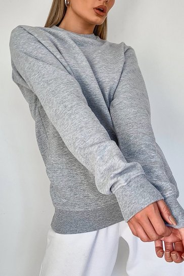 Grey Basic Crew Neck Sweat